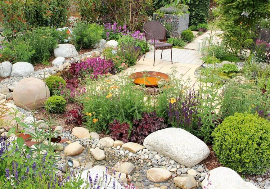 Backyard Rock Garden Ideas #3: One Great Use For A Rock Garden Is To Outline Areas And Separate Different  Areas Of