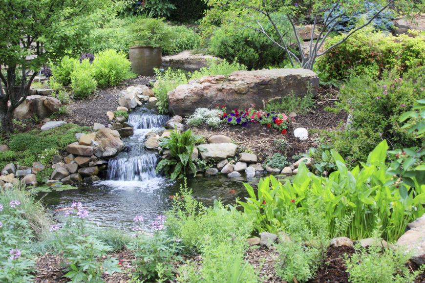 32 backyard rock garden ideas for Rock ponds designs