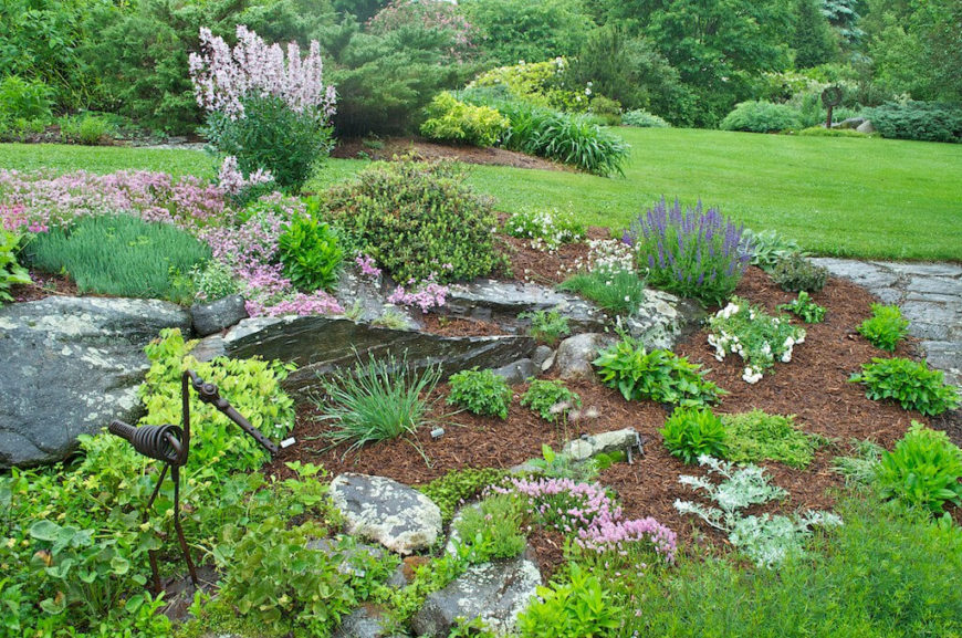Rock Garden Ideas diy rock garden landscaping designs ideas and online 2016 photo gallery Even By Adding A Few Stones To Your Garden You Can Introduce Interesting Textures To The