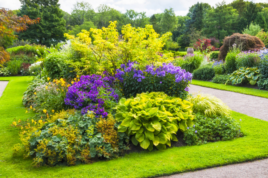 Garden Design With Shrubs : Large manicured shrubs are often associated with elegantly landscaped