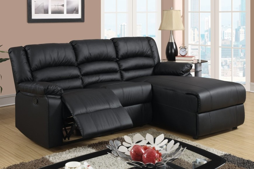 Black Bonded Leather Sectional Sofa with Single Recliner & Top 10 Best Recliner Sofas (2017) - islam-shia.org