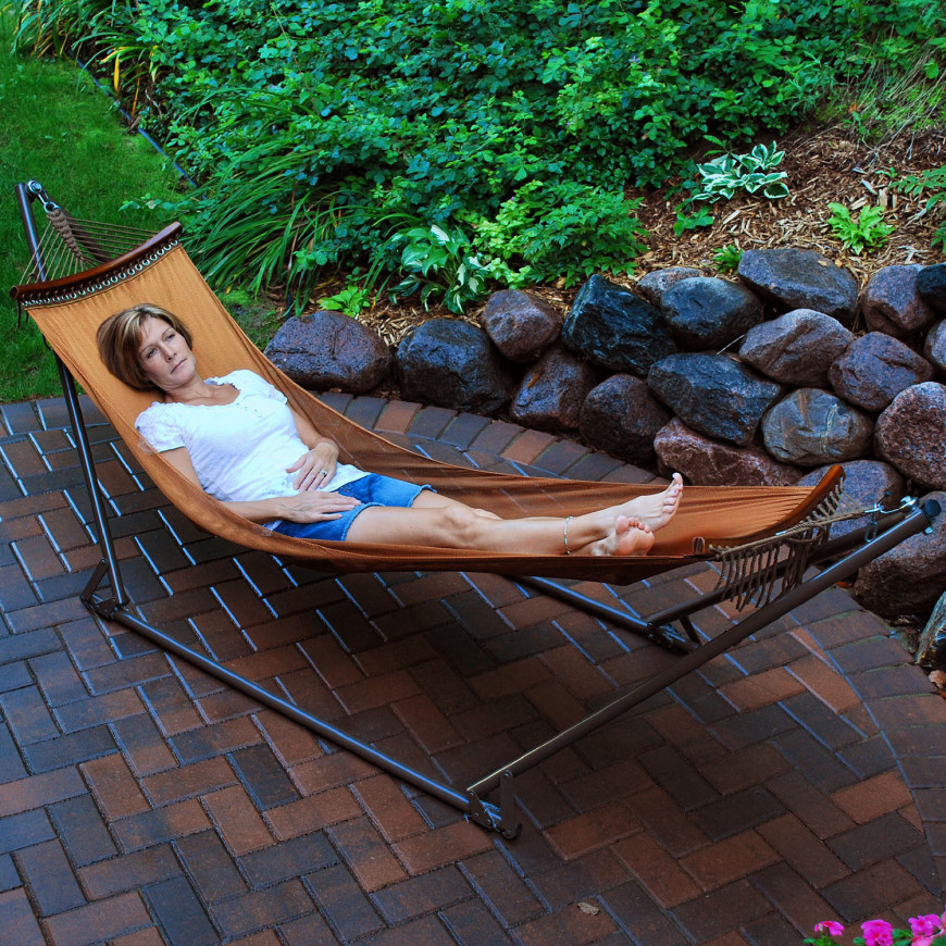 Backyard Hammock Ideas for backyards without a perfect spot to hang a traditional hammock metal supported ones can For Backyards Without A Perfect Spot To Hang A Traditional Hammock Metal Supported Ones Can