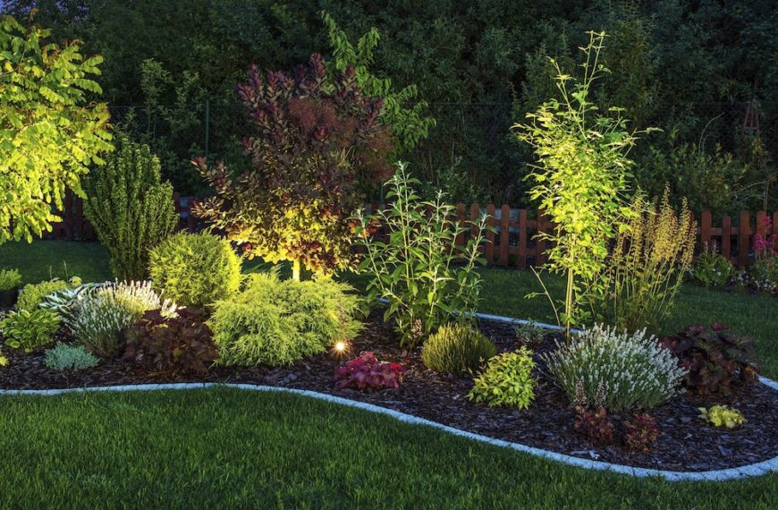 garden design with fantastic garden lighting ideas with fall garden ideas from homestratospherecom