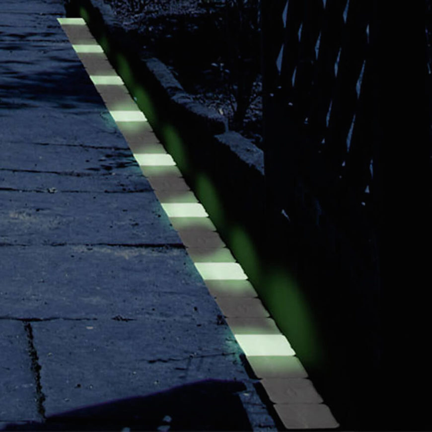 lining a walkway with glow in the dark bricks is a brilliant idea if you
