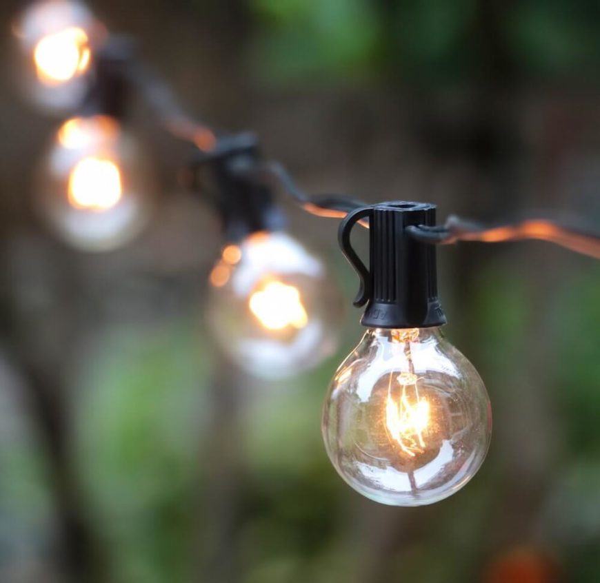 A simple string of bulbs can be used in many ways. It is likely the simplest and easiest solution to your lighting needs. The things which can be done with a string of bulbs is only limited by your imagination.
