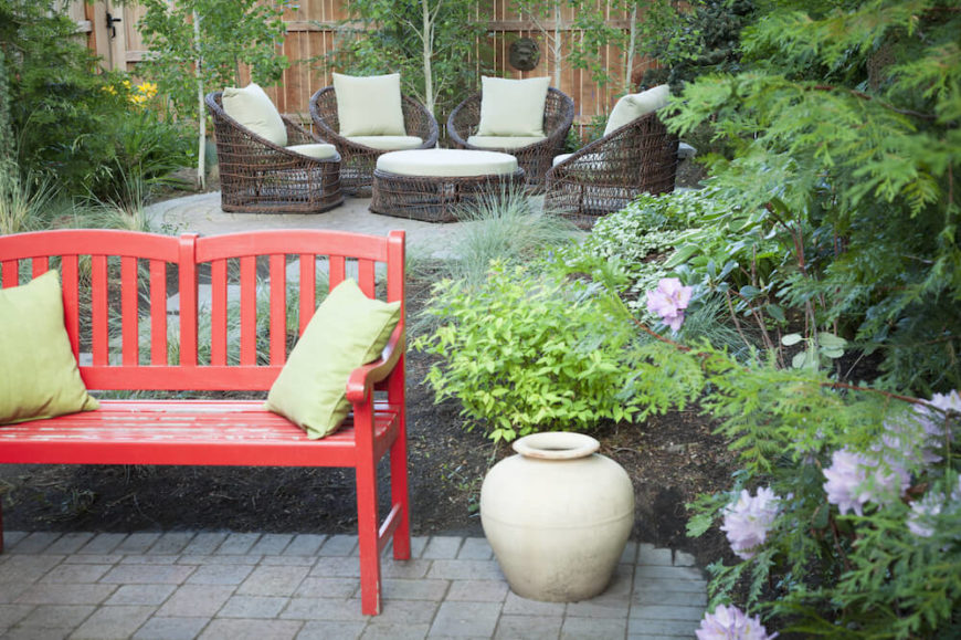 Patio Bench Ideas Part - 38: As With Indoors, Accent Furniture Outside Can Spice Up Your Space And Make  Your Area