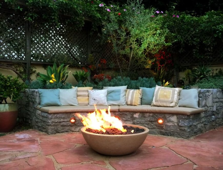 A Curved Bench Is A Great Idea To Put Around A Fire Pit. With A