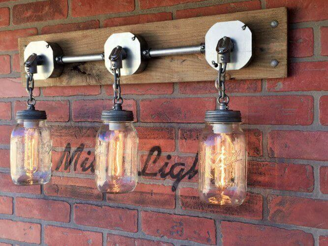 Rustic Industrial Modern Mason Jar Light Fixture Porch By: 35 Industrial Lighting Ideas For Your Home