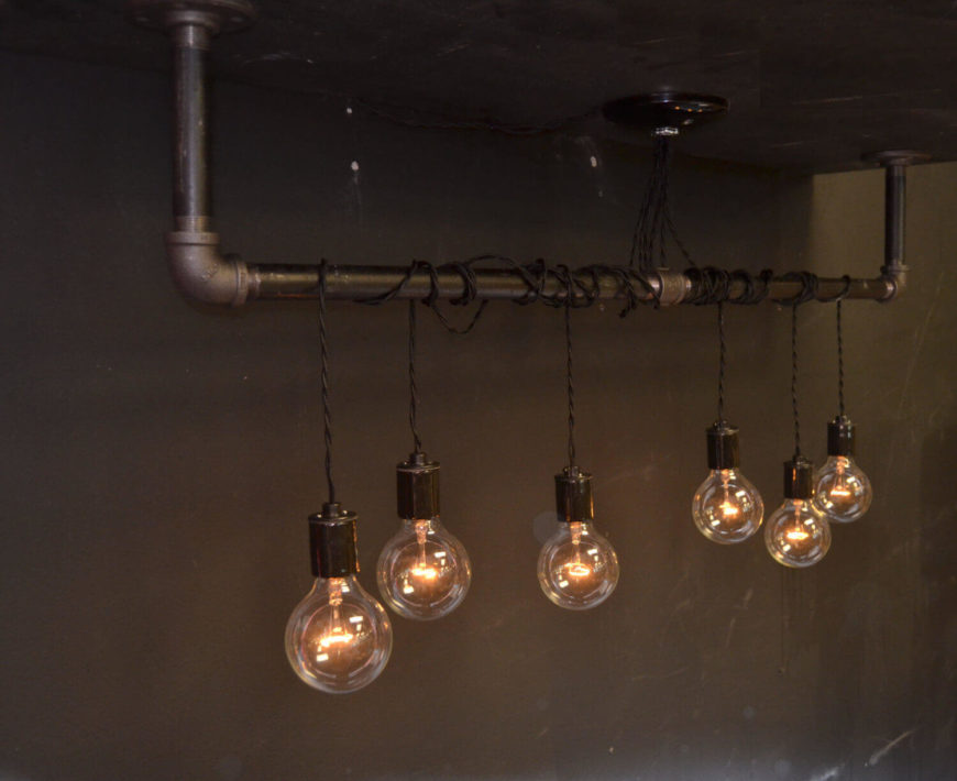 This Light Includes The Hanging Bar As Well As The Hanging Lights Wound  Around The Bar
