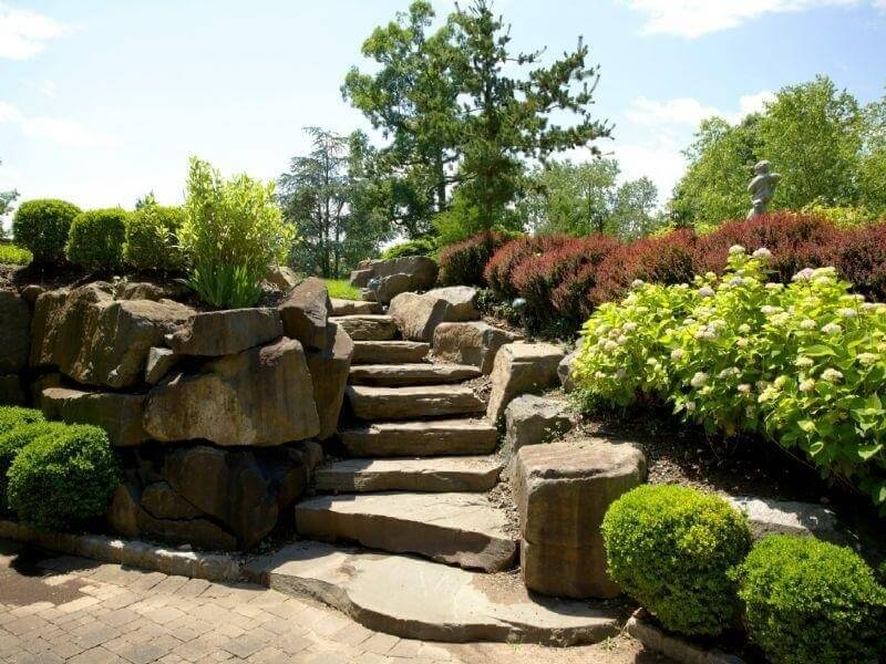Carved Stone Steps : Magnificent backyard stone step ideas