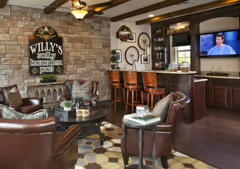 63 finished basement man cave designs awesome pictures - Man caves chick sheds mutual needs ...