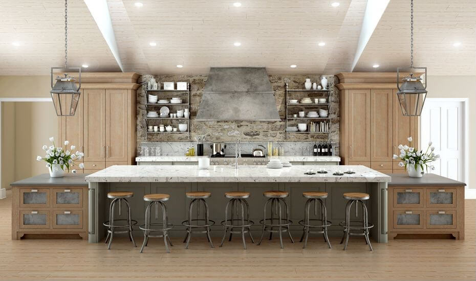 Galley Kitchen Layouts With Island 64 deluxe custom kitchen island designs (beautiful) | home