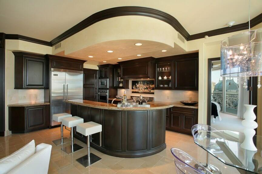 64 deluxe custom kitchen island designs beautiful Fall ceiling design for kitchen