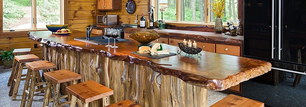 64 deluxe custom kitchen island designs beautiful for How to finish a wood slab
