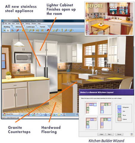 21 best online home interior design software programs for Kitchen designs programs