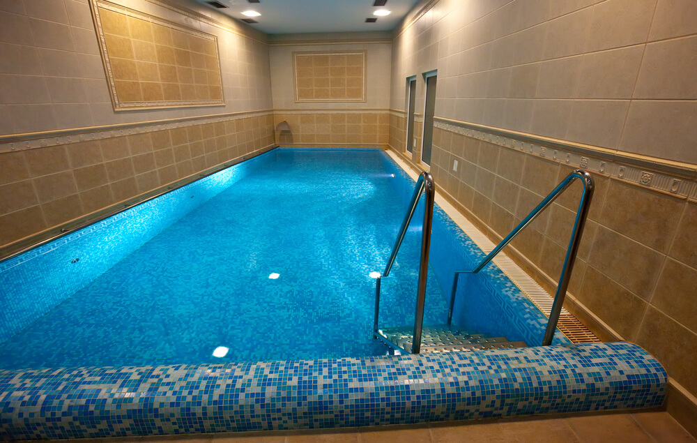 Walk In Swimming Pool Designs walk in pool Clearly Not An Indoor Pool Designed For Sitting Poolside This Room Is All Pool