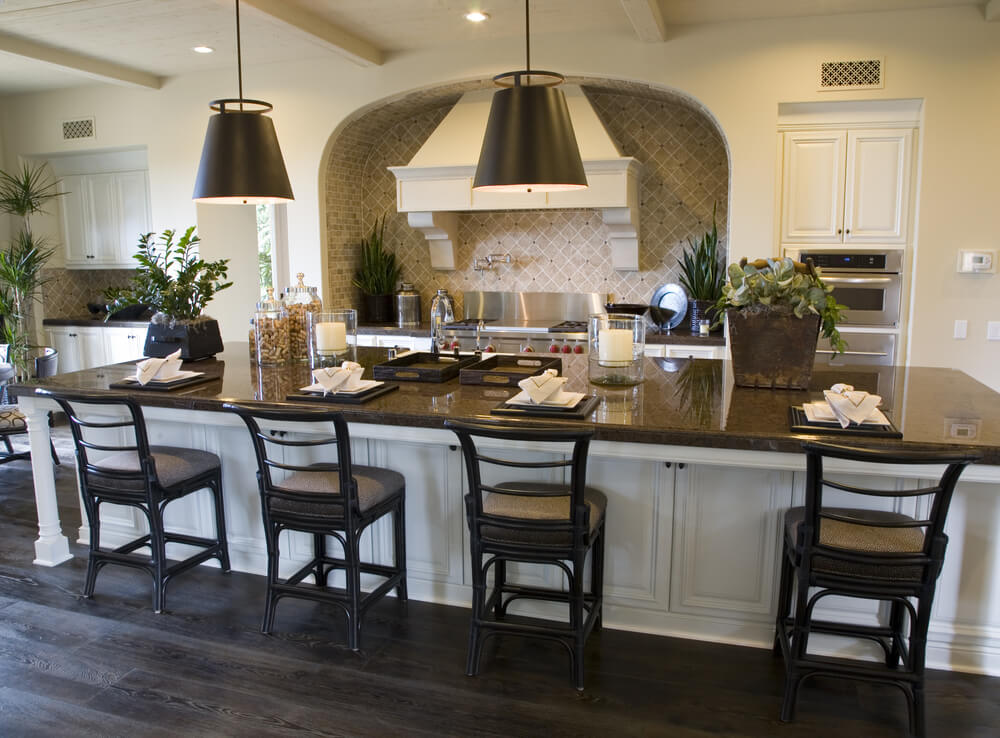marvelous Large Kitchen Island Designs #1: Large island with spacious seating