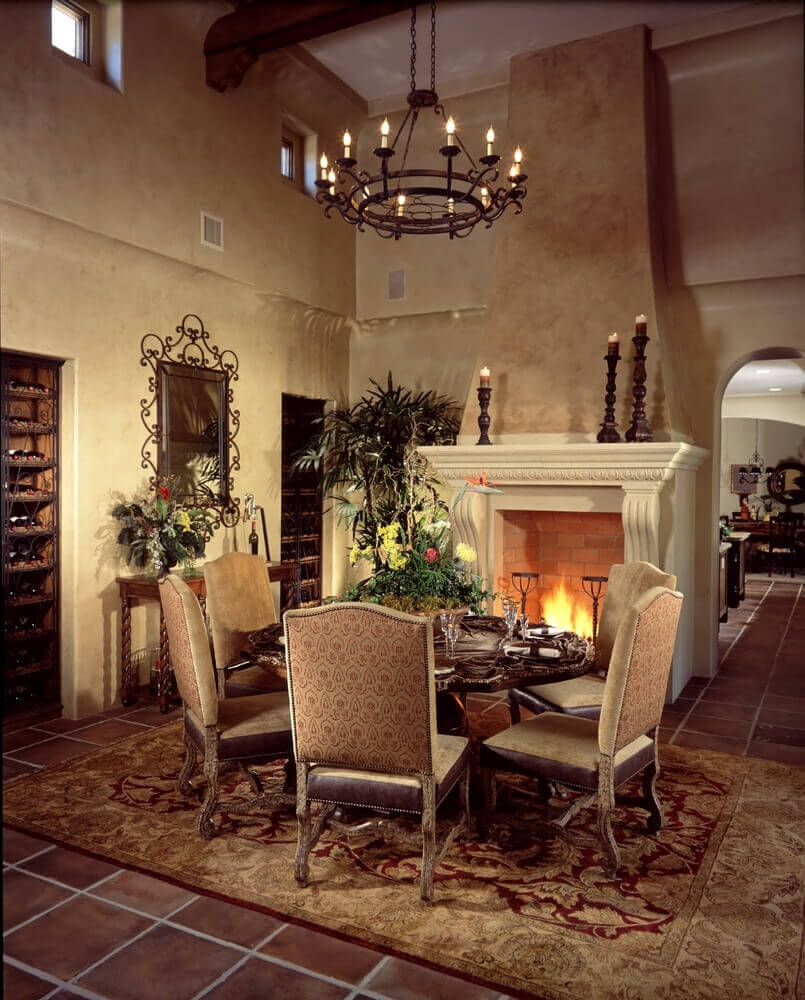 126 custom luxury dining room interior designs for Old world home decor