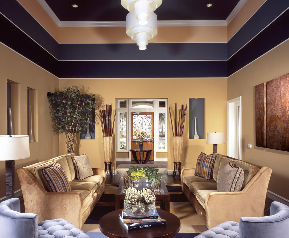 Bright paint colors for small bedrooms - Living Room In Beige Located Just Off The Front Foyer Of This Luxury