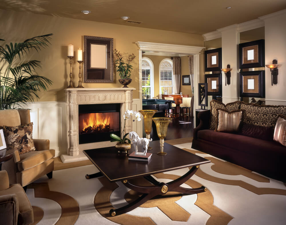 75 formal casual living room designs furniture for Beige and brown living room ideas
