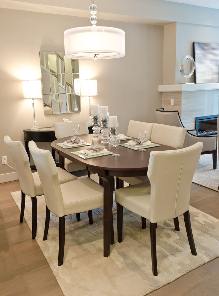 126 custom luxury dining room interior designs for Small dining area