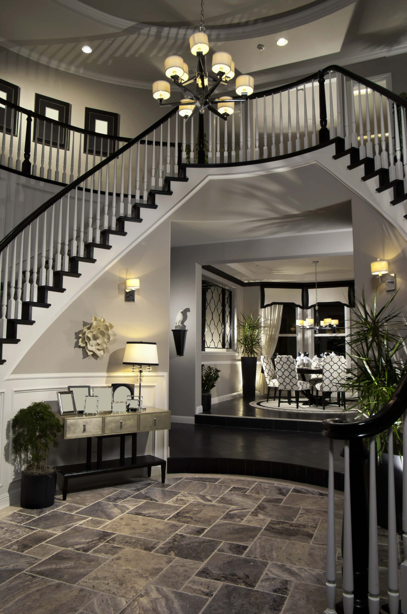 Entrance And Foyer : Custom luxury foyer interior designs