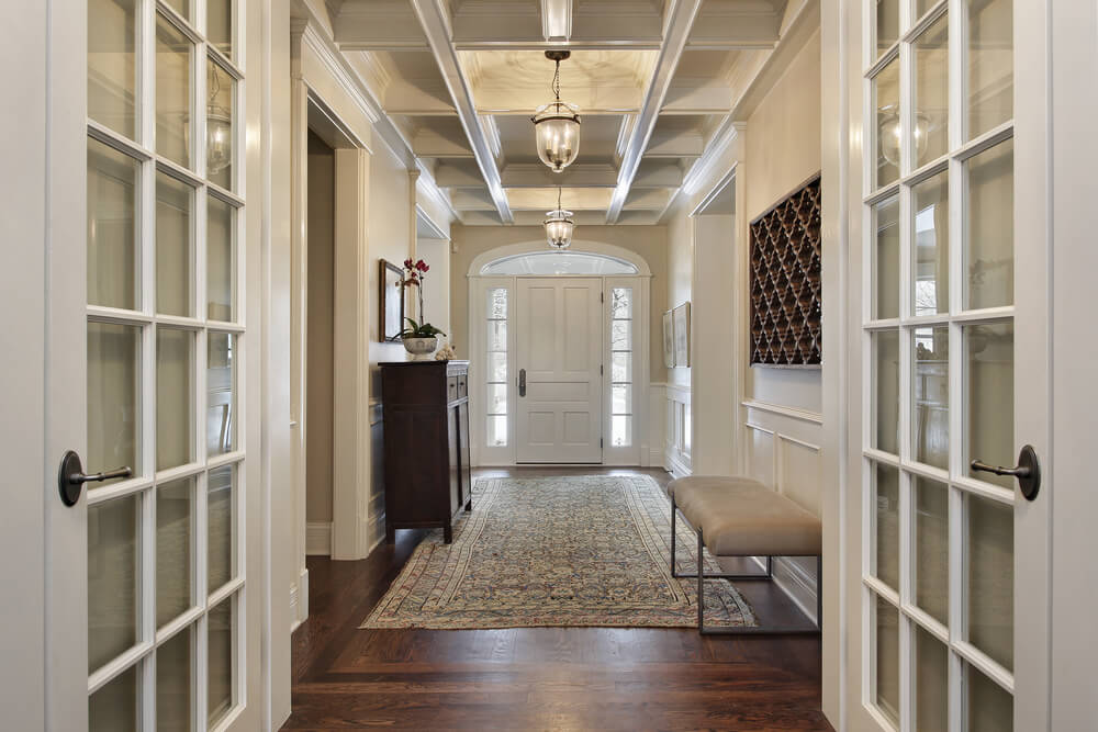 45 custom luxury foyer interior designs for High end french doors