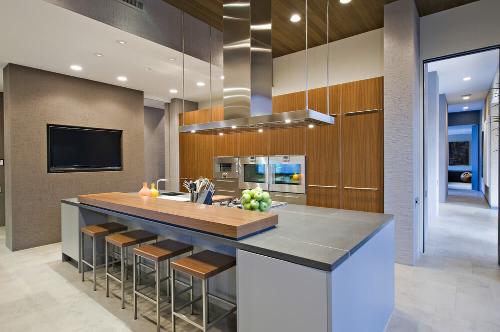 64 deluxe custom kitchen island designs beautiful for Contemporary kitchen style