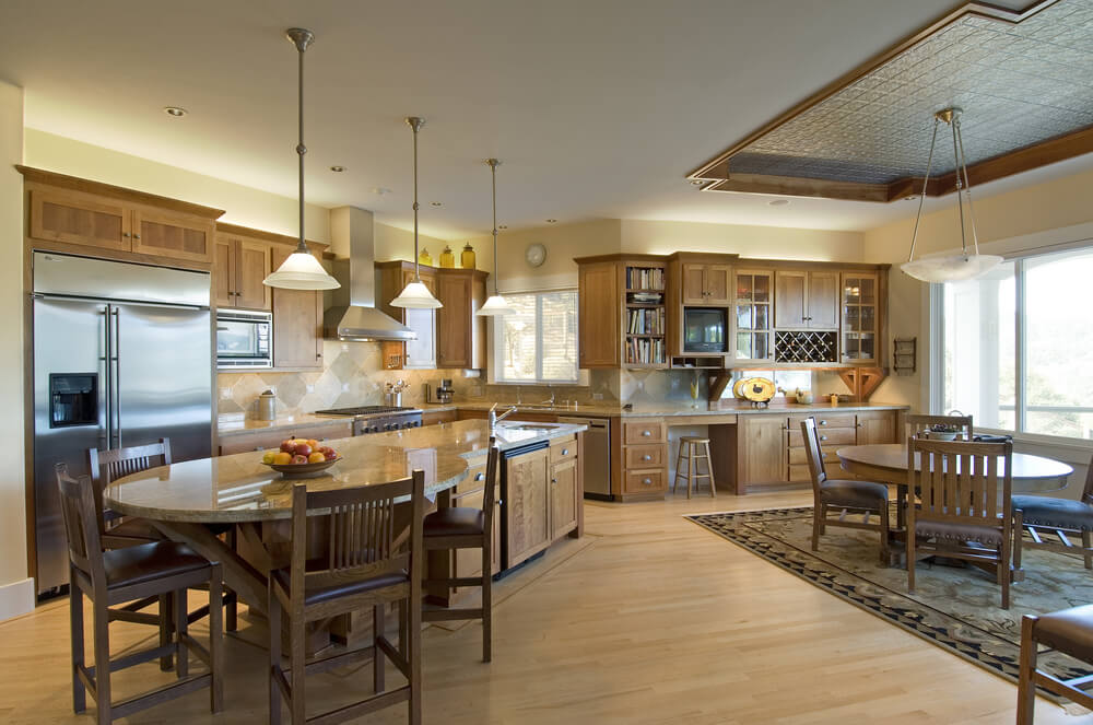 Kitchen View From Above : Deluxe custom kitchen island designs beautiful