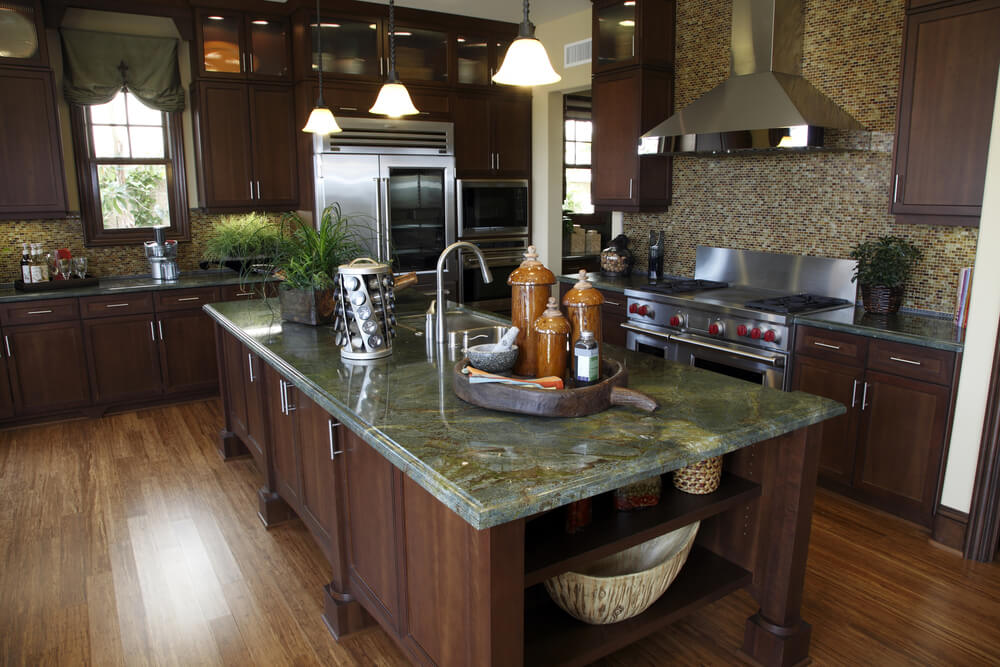 64 deluxe custom kitchen island designs beautiful - Kitchen design marble countertops ...