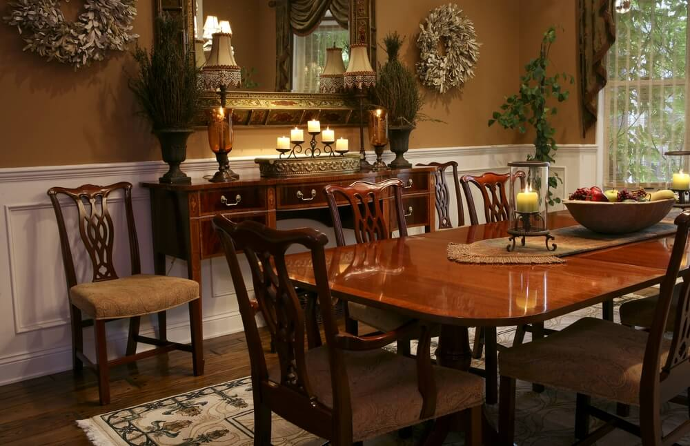 126 custom luxury dining room interior designs for Traditional dining room wall decor