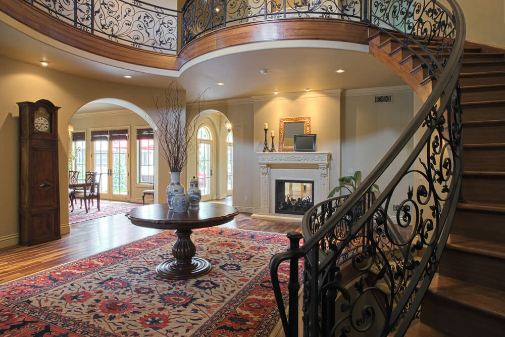 Elegant Foyer Name : Custom luxury foyer interior designs