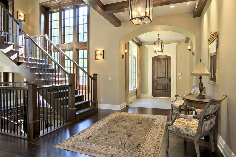 House Foyer Staircase : Custom luxury foyer interior designs