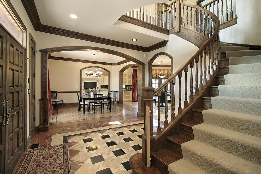 45 custom luxury foyer interior designs for Mansion foyer designs
