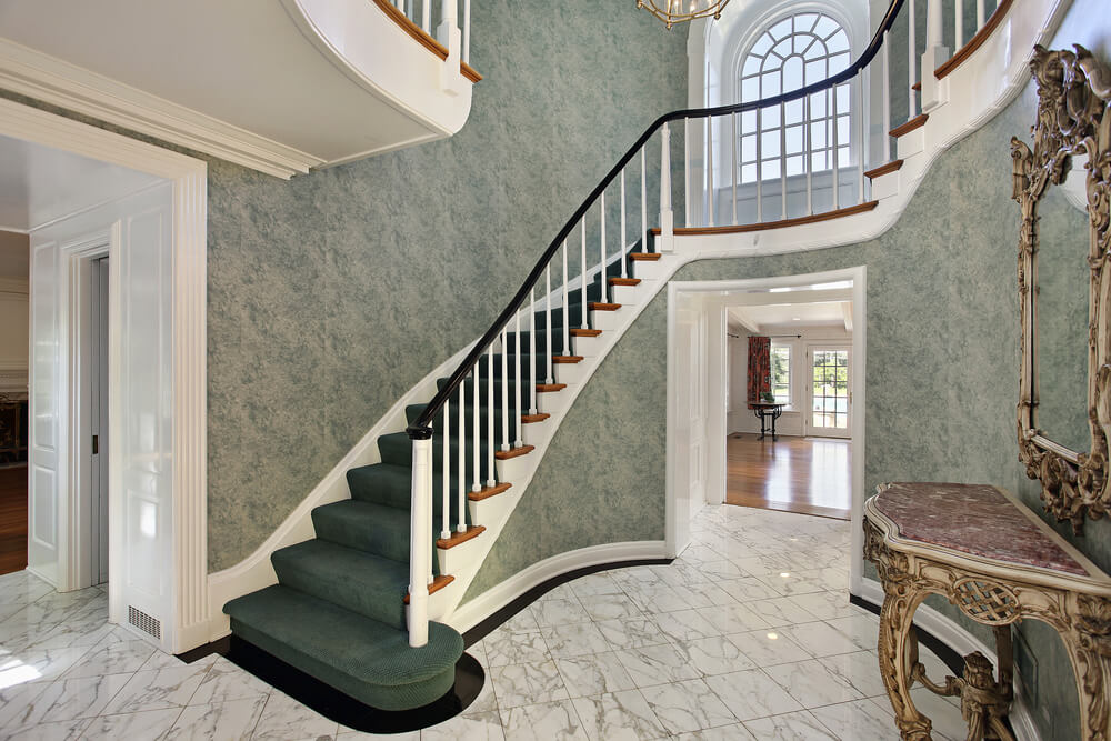Foyer Stairs Reviews : Custom luxury foyer interior designs