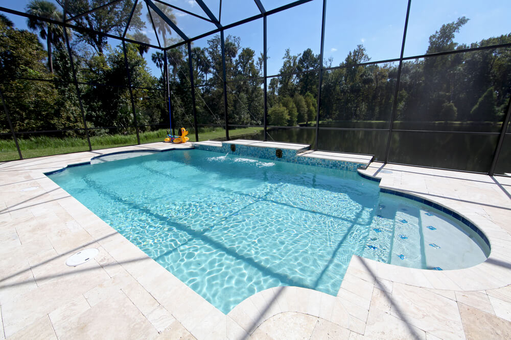 Screened In Pool : Screened in covered and indoor pool designs