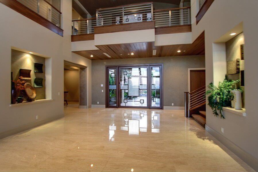 Large Modern Foyer : Custom luxury foyer interior designs