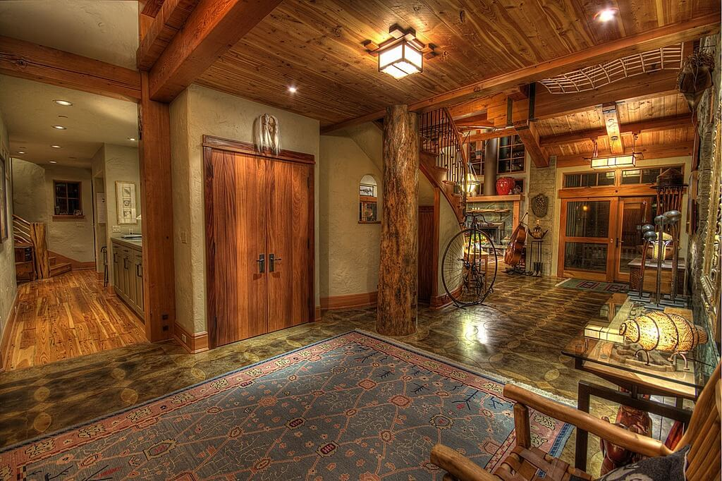 Rustic Foyer : Custom luxury foyer interior designs