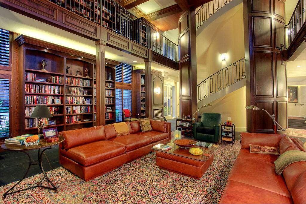 54 lofty loft room designs for Library living room ideas