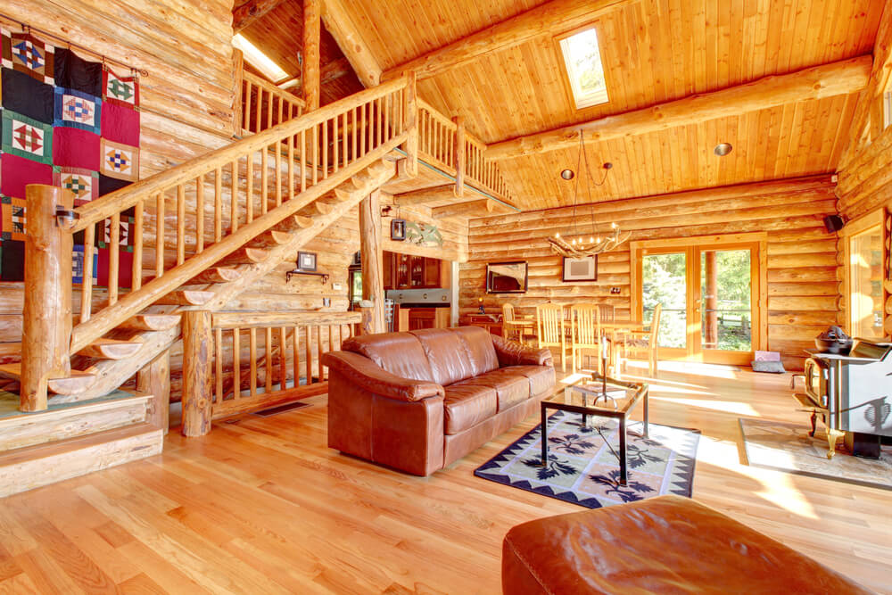 54 lofty loft room designs for Building a small cabin with loft