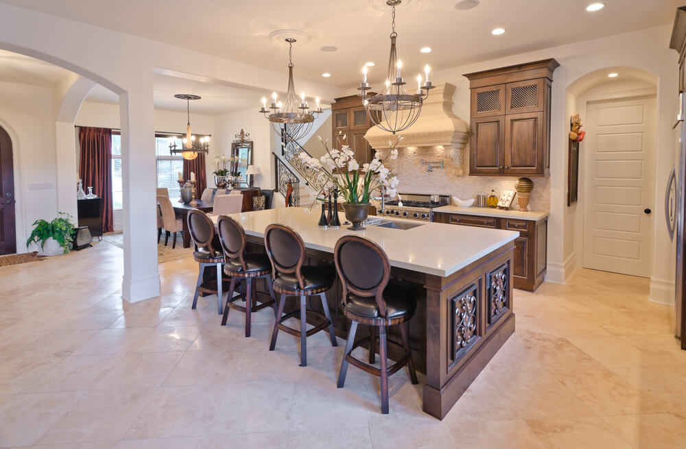 Kitchen Island Eating Area 39 fabulous eat-in custom kitchen designs | home stratosphere