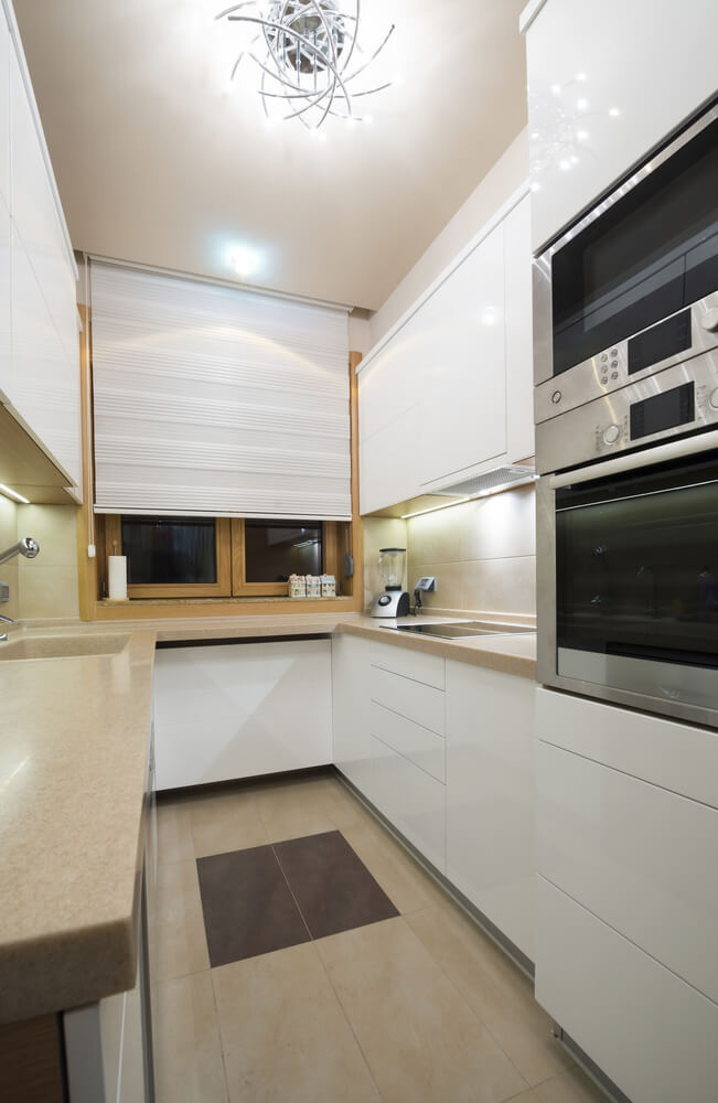 Small Cubby Hole Kitchen With White Cabinets For A Small Kitchen It Offers Decent