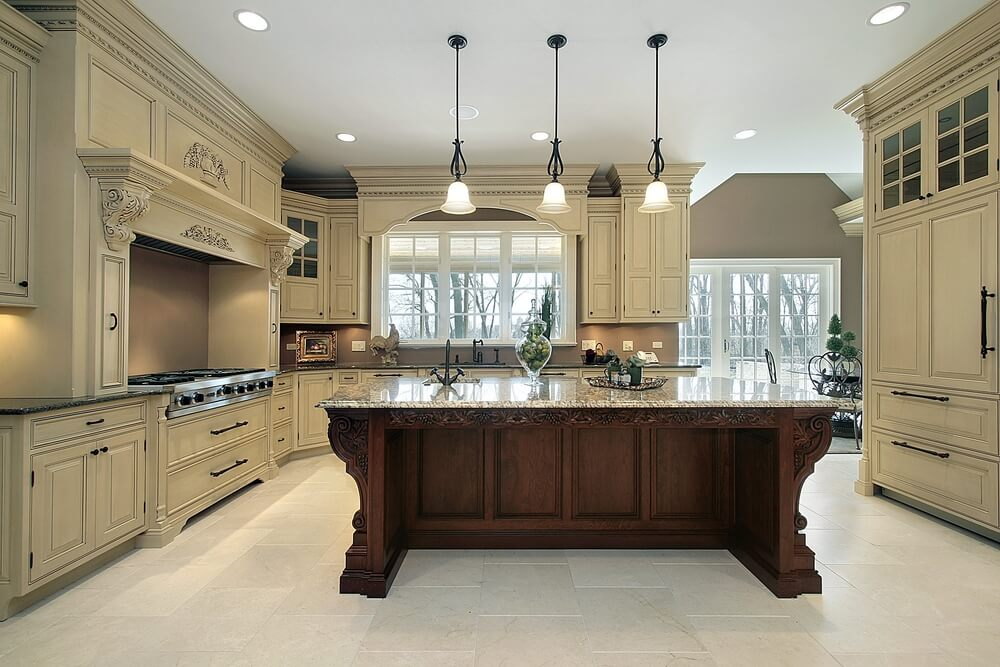 53 spacious new construction custom luxury kitchen designs for Rich kitchen designs