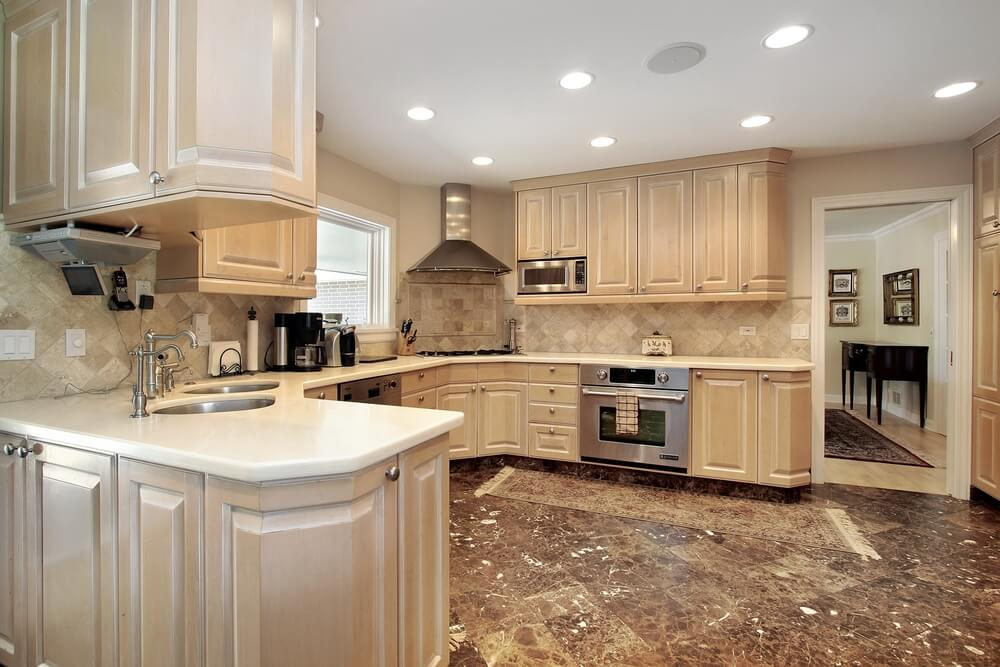 New And Spacious Light Wood Custom Kitchen Designs - Whitewash kitchen cabinets