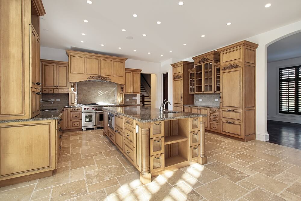 light colored granite for kitchen 43 quot new and spacious quot light wood custom kitchen designs 8989