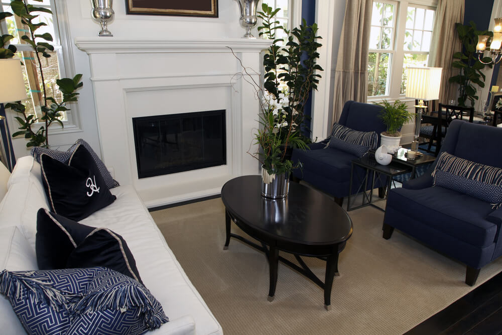 Here's an example of non-neutral colors in a living room.