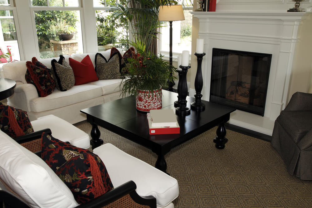 Contemporary Living Room Set In Black Red Or Cappuccino: 47 Beautifully Decorated Living Room Designs