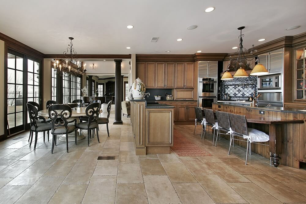 dark tile kitchen floor 43 quot new and spacious quot darker wood kitchen designs amp layouts 6457