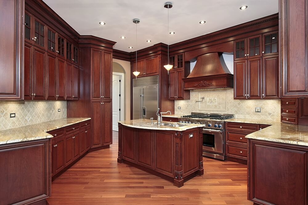 """Kitchen Color Ideas With Cherry Cabinets 43 """"new and spacious"""" darker wood kitchen designs & layouts 
