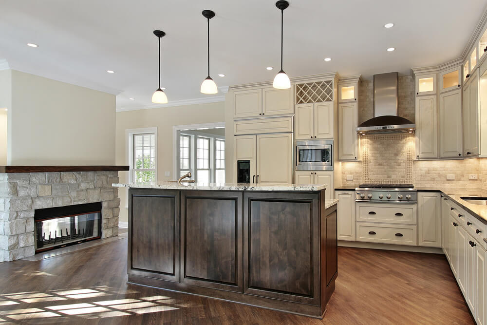 31 new custom white kitchens with wood islands for Looking for kitchen
